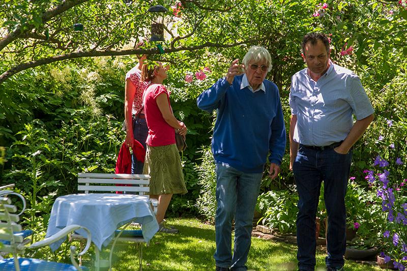 Hannover, Naturnaher Kleingarten von Wildbienenspezialist Klaus Hennemann, Copyright: laview