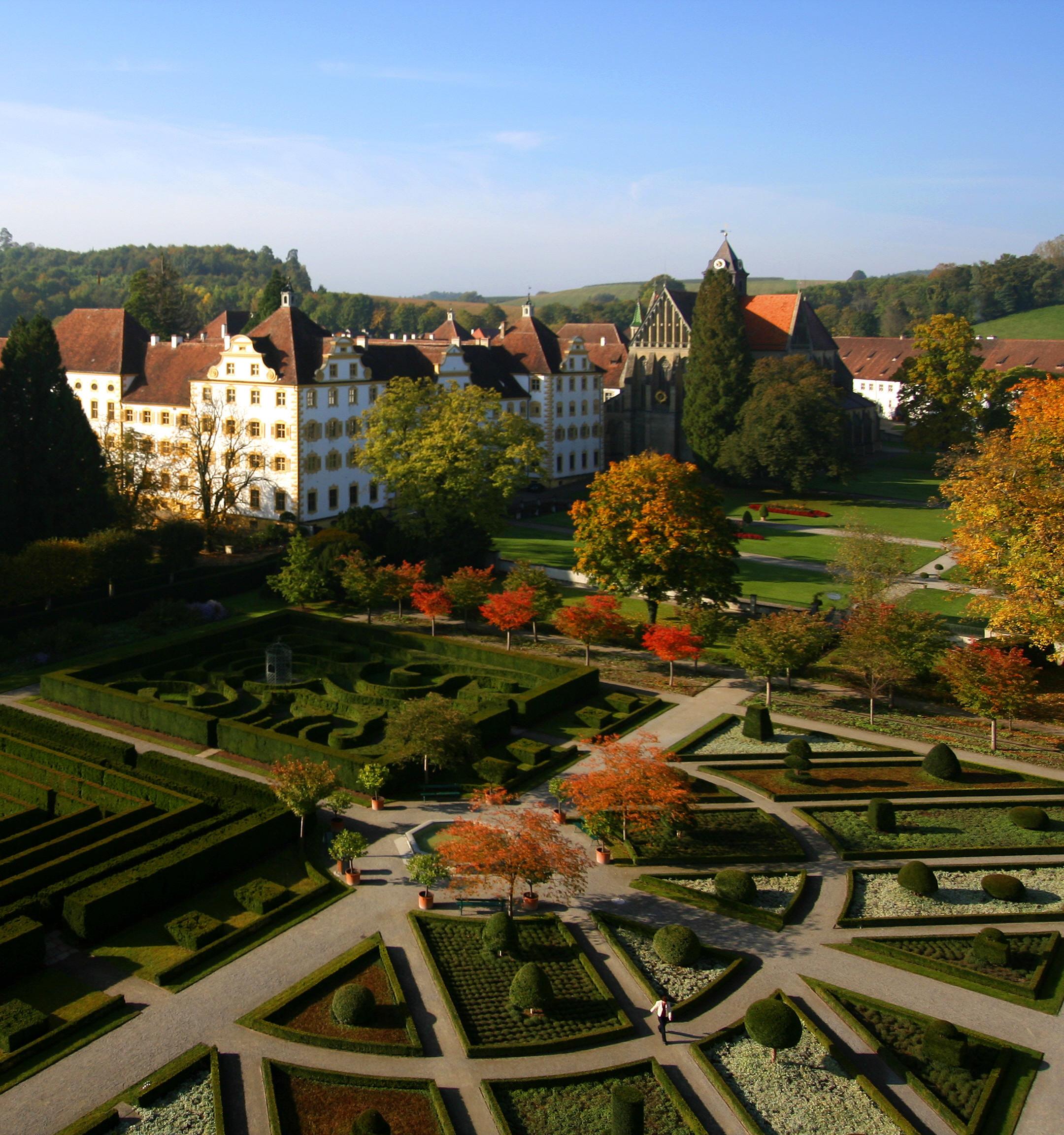 Kloster und Schloss Salem, Hofgarten - Foto: SSGBW, A. Mende