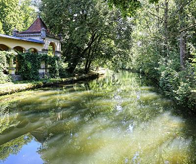 Laubengang im Wildbad-Park, Rothenburg ob der Tauber - Foto: Rothenburg Tourismus Service