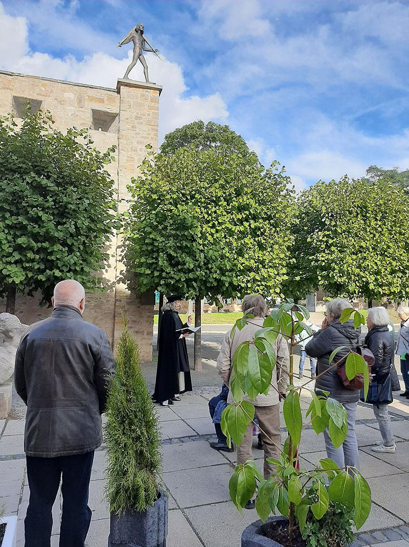 Parkspaziergang mit Adam Olearius, Foto: Aschersleber Kulturanstalt
